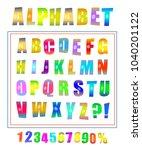 pop art font set. alphabet... | Shutterstock . vector #1040201122