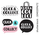 click and collect. set of hand... | Shutterstock .eps vector #1040209672