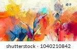 abstract colorful oil painting... | Shutterstock . vector #1040210842