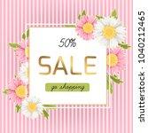spring sale promo banner flyer... | Shutterstock .eps vector #1040212465