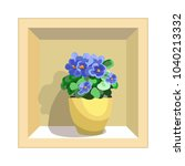 violets with green leaves in a... | Shutterstock .eps vector #1040213332