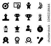 solid vector icon set   target... | Shutterstock .eps vector #1040218666