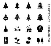 solid vector icon set  ... | Shutterstock .eps vector #1040218696
