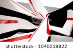 abstract white  black and red... | Shutterstock . vector #1040218822