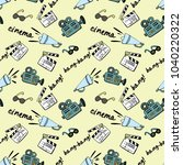 seamless vector pattern with... | Shutterstock .eps vector #1040220322