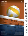 volleyball tournament poster... | Shutterstock .eps vector #1040221072