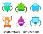 bot creatures collection ... | Shutterstock .eps vector #1040226406