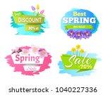 best discount spring big sale... | Shutterstock .eps vector #1040227336
