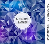 vector asymmetric pattern with... | Shutterstock .eps vector #1040230792