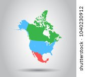 north america map icon.... | Shutterstock .eps vector #1040230912