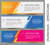 vector colorful banner web... | Shutterstock .eps vector #1040231266