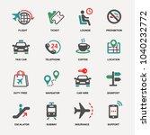 set of travel icons | Shutterstock .eps vector #1040232772