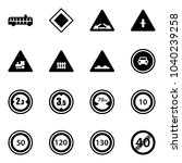 solid vector icon set   airport ... | Shutterstock .eps vector #1040239258