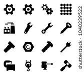 solid vector icon set   heart... | Shutterstock .eps vector #1040239522
