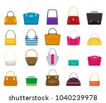 fashion bags set. isolated... | Shutterstock .eps vector #1040239978