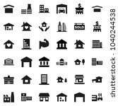 flat vector icon set   house... | Shutterstock .eps vector #1040244538