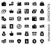 flat vector icon set   dollar...   Shutterstock .eps vector #1040247676