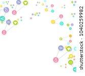 social media marketing ... | Shutterstock .eps vector #1040259982