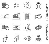 flat vector icon set   coins... | Shutterstock .eps vector #1040260396