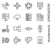flat vector icon set   incoming ... | Shutterstock .eps vector #1040260558