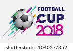 football 2018 world... | Shutterstock .eps vector #1040277352