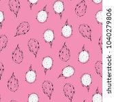 tropical dragon fruit vector... | Shutterstock .eps vector #1040279806