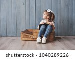 ready to big travel. happy... | Shutterstock . vector #1040289226
