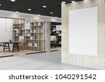 modern library interior with... | Shutterstock . vector #1040291542