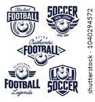 vector football emblems set.... | Shutterstock .eps vector #1040294572
