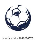 vector soccer ball isolated on... | Shutterstock .eps vector #1040294578