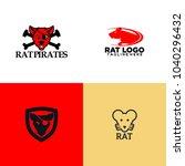 rat logo design   Shutterstock .eps vector #1040296432