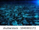 abstract digital backdrop.... | Shutterstock . vector #1040301172