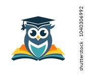 Stock vector owl logo vector template stock vector 1040306992