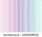 abstract  holographic striped... | Shutterstock .eps vector #1040308522