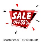 sale off 55   sign with red... | Shutterstock .eps vector #1040308885