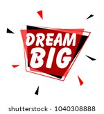 big dream  sign with red label | Shutterstock .eps vector #1040308888