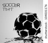 soccer grunge ball | Shutterstock .eps vector #104031176