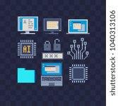 computer modern technologies... | Shutterstock .eps vector #1040313106