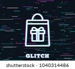 glitch effect. shopping bag... | Shutterstock .eps vector #1040314486
