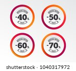 sale discount icons. special... | Shutterstock .eps vector #1040317972