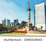 the angel of independence   ... | Shutterstock . vector #1040318602