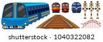 railroad and different designs... | Shutterstock .eps vector #1040322082