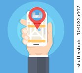 search hospital or  pharmacy on ... | Shutterstock .eps vector #1040325442