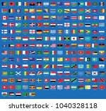 all national flags of the world ... | Shutterstock .eps vector #1040328118
