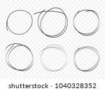 hand drawn circle line sketch... | Shutterstock .eps vector #1040328352