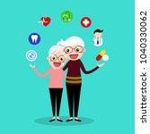 couple of lovely senior with... | Shutterstock .eps vector #1040330062