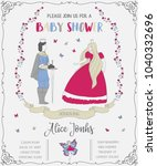 baby shower invitation with... | Shutterstock .eps vector #1040332696