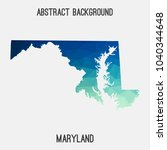maryland map in geometric... | Shutterstock .eps vector #1040344648