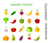 stylish design vegetable... | Shutterstock .eps vector #1040345752