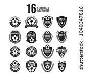football club logo set vector... | Shutterstock .eps vector #1040347816